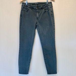 WHBM | Skinny Crop Jewel Tone Side Detailing Jeans